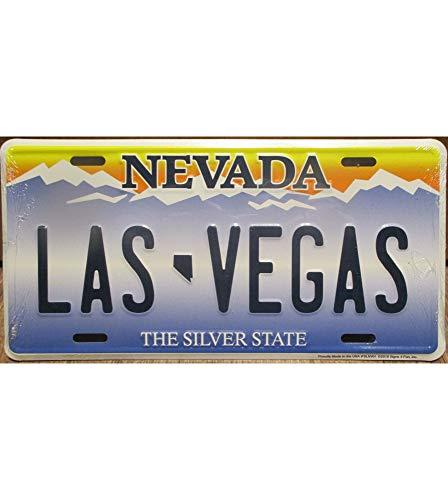 Hotrodspirit - Placa de matrícula Las Vegas tole Deco USA en Relief Fan USA Nevada