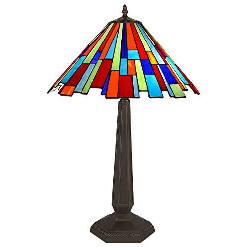 World Art TW60507 Lampes Style Tiffany, Multicolore, 66x42x42 Cm