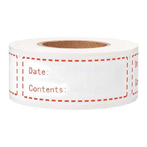 Matedepreso Etiquetas extraíbles para congelador, para almacenar alimentos, etiquetas de cocina, impermeables, sin residuos, fáciles de limpiar