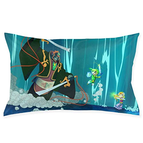hongze The Legend of Zelda Throw Pillows Covers Pillow Case Modern Cushion Cover Square Pillowcase Decoration-for Sofa Bed Chair Car 18 X 18 Inch Double-Sided Printing