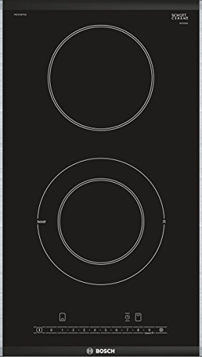 Plaque Vitrocéramique 2 feux-Bosch PKF375FP1E - Plaque de cuisson Vitrocéramique - Dimensions produit (LxP en cm) : 30.6 / 52.7