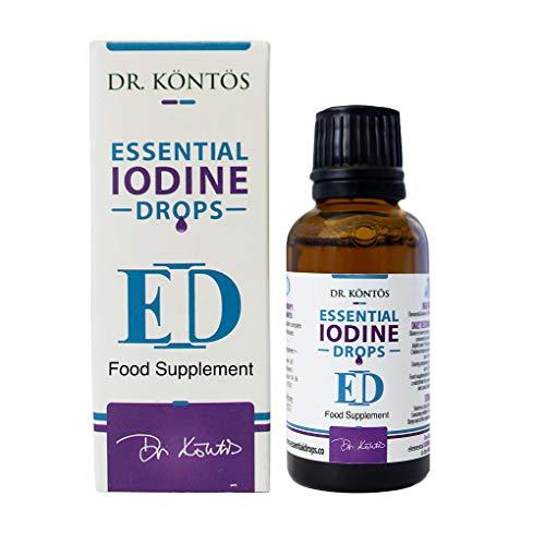 Dr. Kontos Iodine Drops, a FULVIC Acid Supplement for Metabolism & Thyroid Balance - Promotes Healthy Hair & Skin - Vegan Friendly Formula - 30 ml
