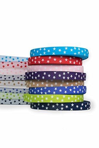 Hoogwaardige elastische band met kleine sterren 2,6 cm aan beide zijden bruikbaar in vele kleuren voor reparatie en vormgeving van broekbanden of joggingpakken roze (nr. 3).