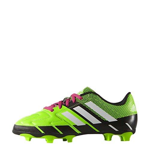 adidas Performance Neoride III Firm Ground Scarpe da Calcio Junior da £35, Green/White/Black, 11
