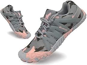 Women's Lightweight Barefoot Minimalist Road Running Fitness Shoe Zero Drop Sneaker Tennis Shoes Cardio Strength Training Pink Camo US Size 4.5