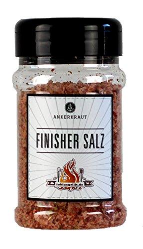 Ankerkraut Finisher Salz, BBQ-Gewürzmischung zum Kochen und Grillen, entwickelt mit tobiasgrillt, 190g im Streuer