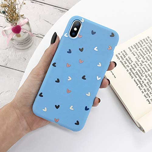 XMCJ Carcasa de silicona para iPhone 11 Pro X XR XS Max 7 8 6 6s Plus 5 5s SE 2020 Candy Shell suave TPU cubierta trasera (color: azul, material: para iPhone 6 o 6s)