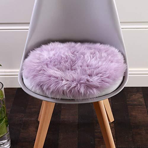 YLCJ stoelkussen verdikking pluche bureaukussen met ronde rugleuning sofa kussen voor kussens rond violet diameter 60 cm (24 inch)
