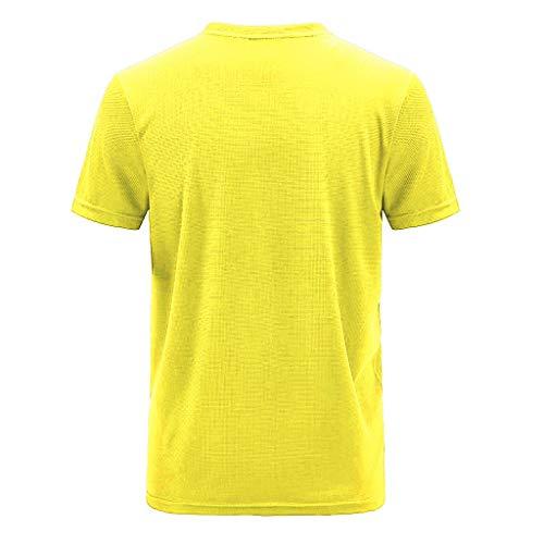 BOLANQ Seide ausgefallene Satin blusenshirts Jeansbluse rüschen gelbe damenblusen Punkten Schleife Carmenbluse (XXXXX-Large,Gelb)