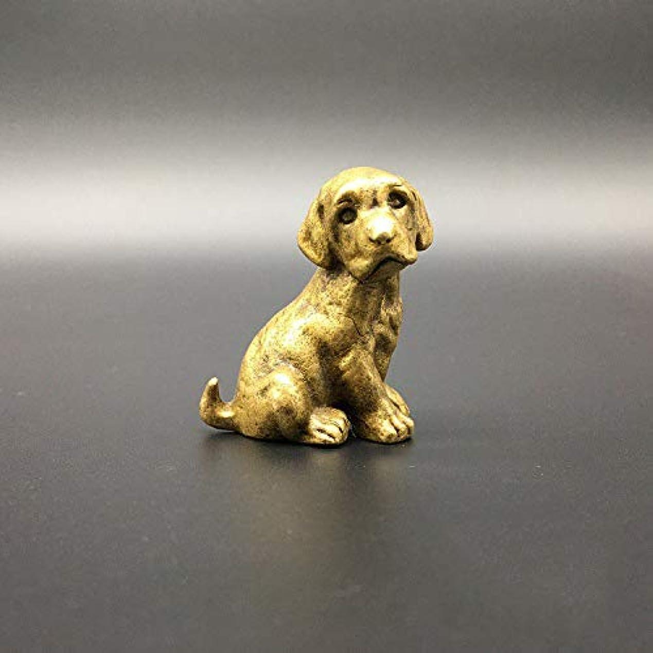 特別なジャンピングジャックメドレーアンティークブロンズ犬の装飾品純銅アンティーク