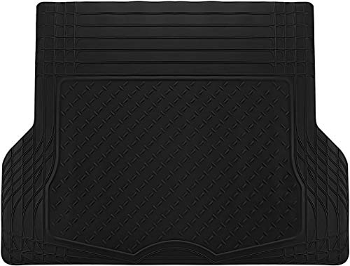 Motorup America All-Weather Cargo Liner/Trunk Mat - Universal Water-Proof Auto Floor Mat - All-Season Car Mats for Automotive Use - Car, SUV, Truck, Van, Pickup - Black