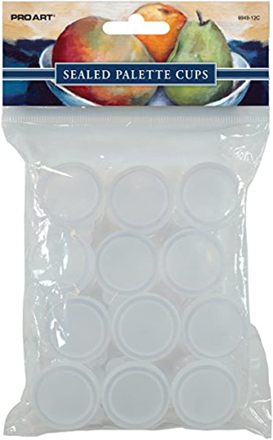 Pro Art Sealed Cups, 12 per Package, 0.35-Ounces Each