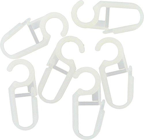 ATELIERS 28 Agrafe pour diamètre 28 et 35 mm Clip Plastique - Blanc - Vendu par 10