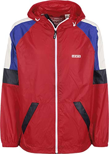 Levi's Colorblock Windrunner Chaqueta, Rojo (Chinese Red 0000), Large para Hombre