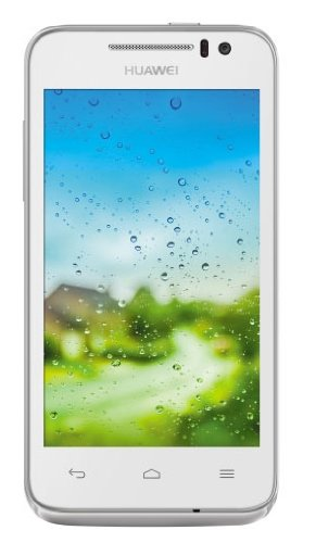 Huawei Ascend G330 Smartphone (10,2 cm (4 Zoll) TFT-Display, Touchscreen, 5 Megapixel Kamera, 4 GB Interner Speicher, Android 4.0, schwarze Front) weiß