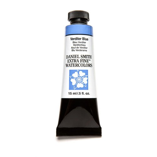 Daniel Smith Extra Fine Watercolor 15ml Paint Tube, Verditer Blue (284600173)