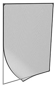 Windhager 04301 - Ventana Magnética para Mosquitera, Instalación sin Herramientas, color Antracita, 100 x 120 cm