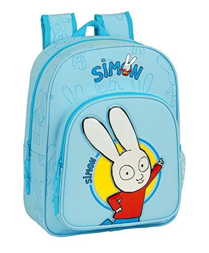 Safta Mochila Escolar Infantil Animada de Simon, 260x110x340mm