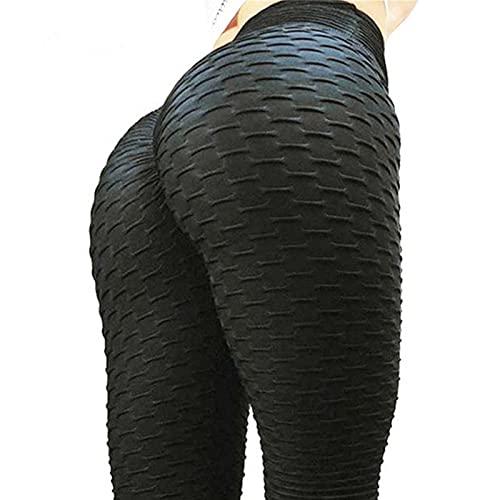 WJWX Pantalones Levantamiento Glúteos Mujer Sexy Cintura Alta Butt Scrunch Push Up Leggings Stretch Gym Workout Yoga Pants