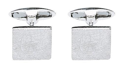 Fred Bennett Herren-Manschettenknöpfe 925 Sterling Silber mattiert silber V188 Verkratzte Manschettenknöpfe