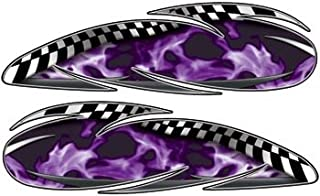 Real Fire Purple Custom Motorcycle Gas Tank Graphics - 4.5