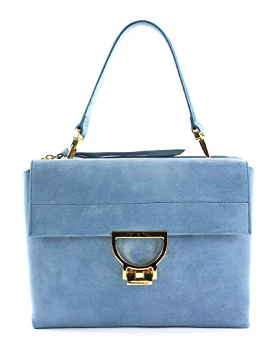 Coccinelle Arlettis Suede Medium Handbag Denim