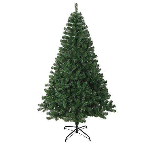 KEPLIN NEW GREEN ARTIFICIAL CHRISTMAS TREE WITH METAL STAND 100% VIRGIN FIRE RETARDANT PVC TIPS (6FT (1.8m))