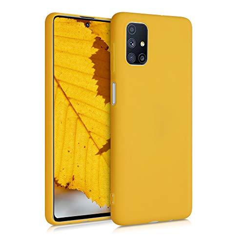 kwmobile Custodia Compatibile con Samsung Galaxy M51 - Cover in Silicone TPU - Back Case per Smartphone - Protezione Gommata Miele