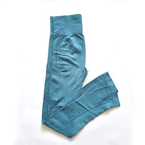 Yogabroek Workout Leggings,Skinny fitnessbroek met hoge taille, yoga broek met heuplift-Lichtblauw_L, Baggy Jumper Casual tops Blouse T-shirt