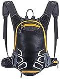 Sac à dos cycliste avec support de casque, sac léger de ski de 15L (mini, compact, étanche), petit sac à dos pour faire du vélo Randonnée Camping alpinisme ski trekking (Noir)