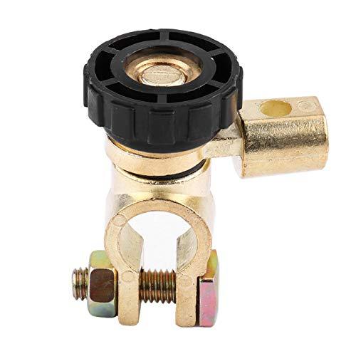Interruptor de corte Terminal de enlace de la batería del automóvil universal Interruptor de aislamiento 12 v corriente continua 125A corriente instantánea 500A(Negro)