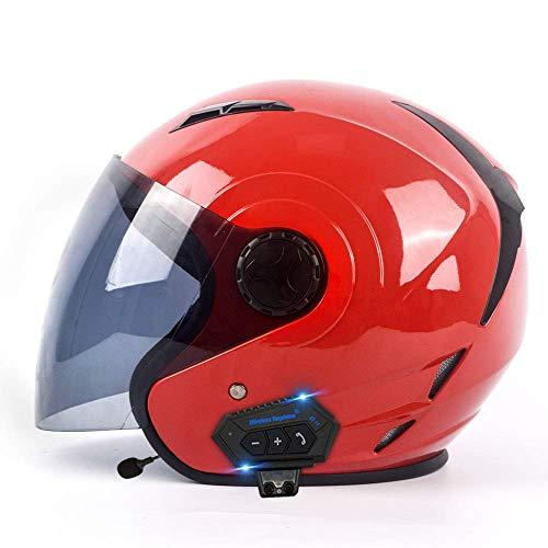 LNSOO Casco de Motocicleta Bluetooth Carreras de Cara completaCasco de Motocicleta Bluetooth ECDOTCertificación-Carreras de Cara completaCasco de Motocicleta Bluetooth Modular Mirror Jet Casco FLI