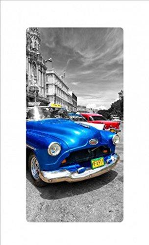 1art1 Oldtimer - Blue Car Acrylglas-Bild 36 x 19 cm