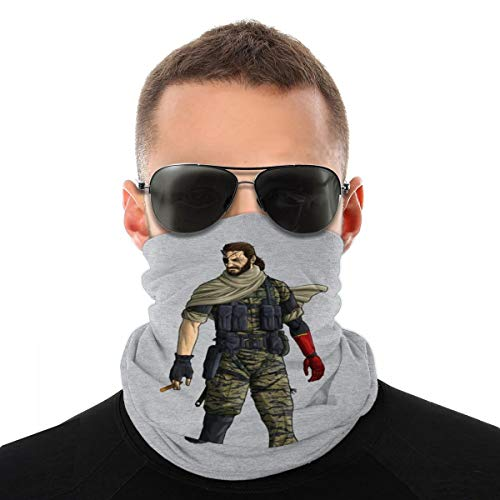 NBUQSG Metal Gear Solid V Venom Snake Variety Head Scarf Face Mask Magic Headwear Neck Gaiter Face Bandana Scarf