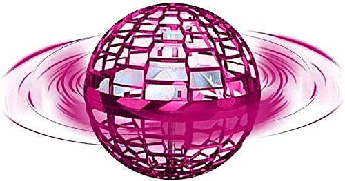 HSY SHOP Flynova Pro Rotation and Endless Skills UFO Flying Toy Manual Drone Children Adults Indoor Outdoor Flying Ball (Color : Pink, Size : A)