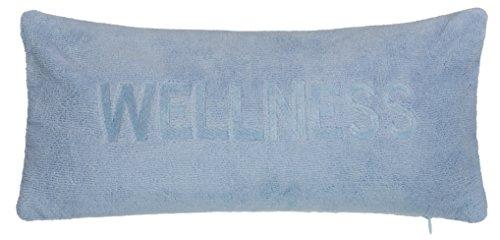 Brandsseller Wellness Badewannenkissen mit Saugnäpfen und Reißverschluss Wannenkissen aus weicher Microfaser - stützt Kopf und Nacken - Farbe: Blau