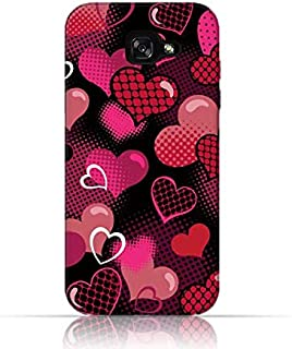 Samsung Galaxy A5 2017 TPU Silicone Case with Valentine hearts seamless Pattern Design