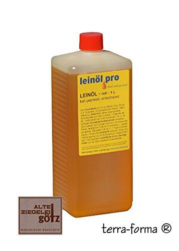 Leinöl roh kalt gepresst entschleimt 1 Liter zum Grundieren
