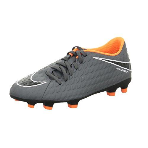 Nike Phantom 3 Club Fg, Scarpe da Calcio Uomo, Grigio (Dark Grey/Total Orange 081), 45 EU