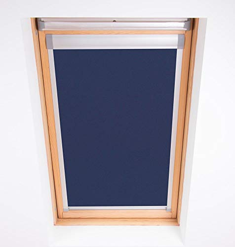 Bloc Skylight Rollo für Velux Dachfenster Blockout, Marineblau, 206