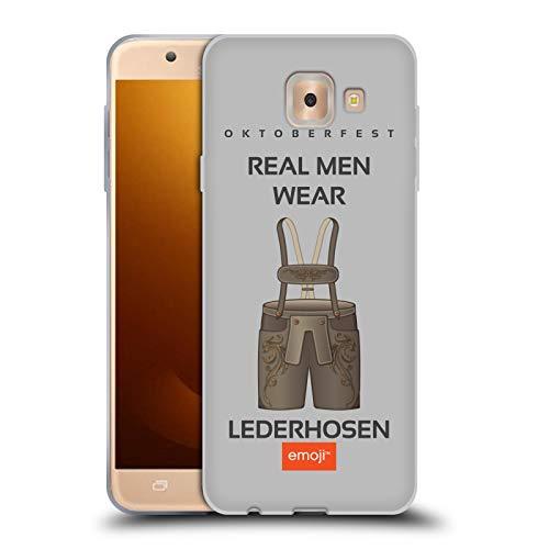 Head Case Designs Oficial Emoji® Lederhosen Oktoberfest Carcasa de Gel de Silicona Compatible con Samsung Galaxy J7 MAX