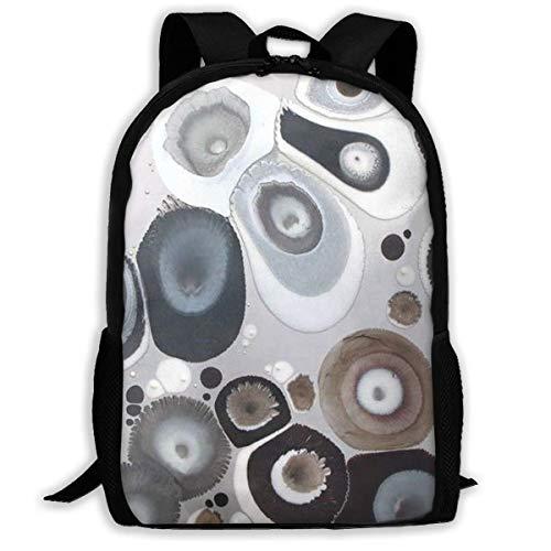 "Wave Point Circular Watercolor Printed School Backpack Water Resistant Travel Rucksack Bag Laptop Lightweight Backpack Daypack,17"" Mochila Escolar"