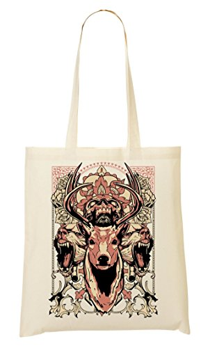 Animal Tribe Deer Skull Bears Predator Out Blood Crown draagtas boodschappentas