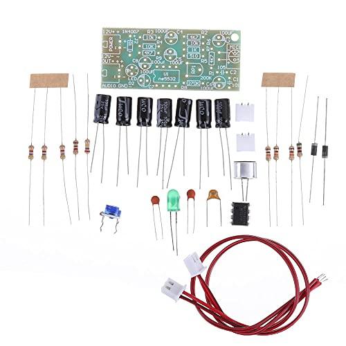 Módulo electrónico Micrófono de salida de toma de audio del micrófono amplificador Módulo de bricolaje kit de doble vía 3pcs ganancia ajustable DC 12V 3,5 mA MIC sonido de voz Equipo electrónico de al