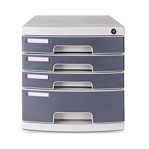 Genug Platz Datei-Halter-Büro-Schreibtisch Schloss Schublade Aktenschrank Multi-Layer-Desktop-Finishing-Datei Office-Storage Box 2 Farbe Optional Gestell Bürobedarf (Color : Five Floors)