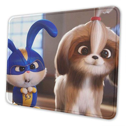 BFGTH Mauspad The Secret Life of Pets Gaming Mouse Pad with Stitched Edges Computer Mouse Mat Non-Slip Rubber Base for Laptop PC 12 X 10 X 0.12 Inches