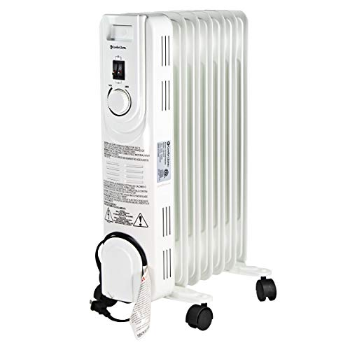 Comfort Zone CZ7007J Oil-Filled Electric Radiator Heater with 3 Heat