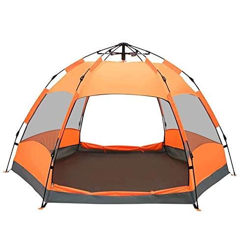N/Z Equipo de Camping Tiendas de campaña para Acampar Impermeable Playa 4 Personas XL Deluxe Fácil de Limpiar Instalación Parasol emergente Bloqueador de Viento