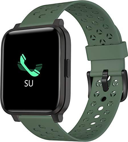 Smartwatch Fitness Tracker Armbanduhr IP68 Fitnessuhr Voller Touchscreen Sportuhr mit Blutdruck Pulsmesser Schlafmonitor Schrittzähler Informationserinnerung