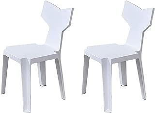 Juego de 2 sillas de Comedor WYYY de plástico con Respaldo de plástico para Restaurante, 6 Colores, 41 x 43 x 82 cm, duraderas y Resistentes